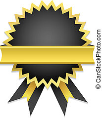 Vector Golden Badge / Only gradient used. Suitable for ...