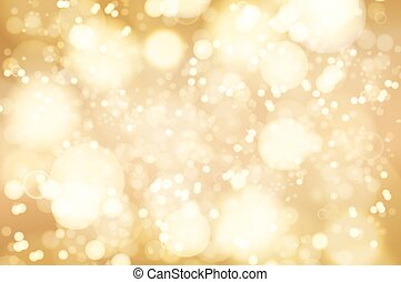 Vector golden bokeh background. abstract defocused bright lights
