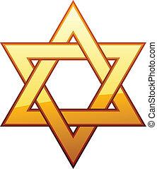 vector golden David star