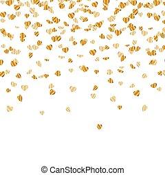 Vector Golden Heart Confetti