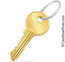 Vector Golden Key