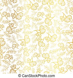 Vector golden leaves texture seamless repeat pattern background. Great for fall fabric, wallpaper, giftwrap, scrapbooking projects.