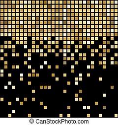 Vector golden mosaic background