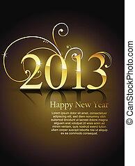 vector golden new year design