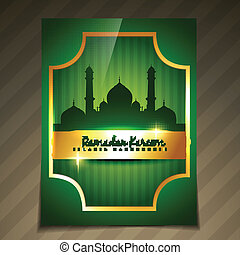 vector golden ramadan template