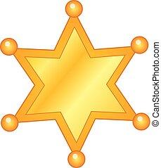 Vector Golden Sheriff Badge
