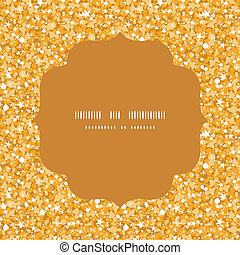 Vector golden shiny glitter texture circle frame seamless pattern background
