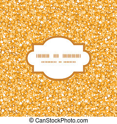 Vector golden shiny glitter texture frame seamless pattern background
