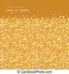 Vector golden shiny glitter texture horizontal frame seamless pattern background graphic design