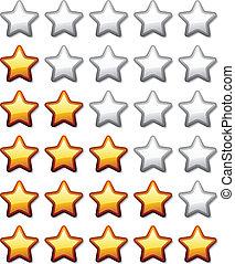 vector golden shiny rating stars