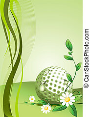 Vector golf Background - Abstract golf Background ( vector...