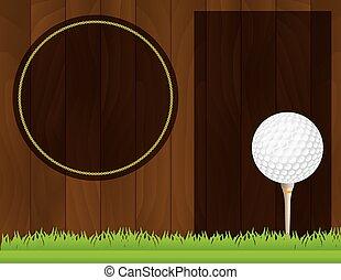Vector Golf Tournament Flyer - An illustration for a golf...