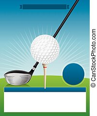 Vector Golf Tournament Illustration