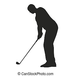 Vector golfer silhouette