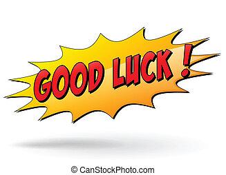 Vector good luck sign - Vector illustration of good luck ...
