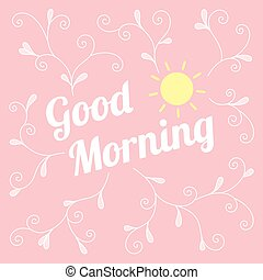 vector good morning background