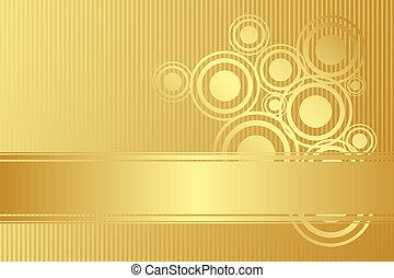 vector, goud, achtergrond