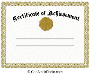 vector, goud, certificaat, zeehondje