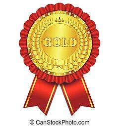 vector, goud, illustratie, teken