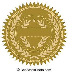 vector, gouden zegel