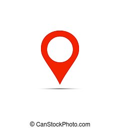 Vector gps marker symbol. Location icon isolated on white background