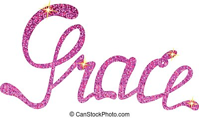 Grace name lettering tinsels