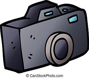 vector gradient illustration cartoon camera