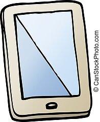 vector gradient illustration cartoon computer tablet