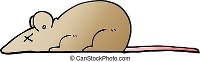 vector gradient illustration cartoon dead rat