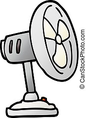 vector gradient illustration cartoon desktop fan