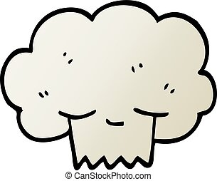 vector gradient illustration cartoon explosion cloud