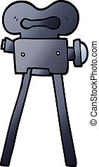 vector gradient illustration cartoon film camera