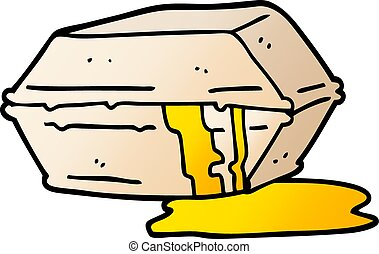 vector gradient illustration cartoon greasy take out food