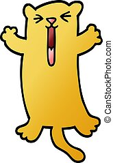 vector gradient illustration cartoon happy cat