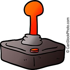 vector gradient illustration cartoon joystick