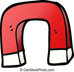 vector gradient illustration cartoon magnet