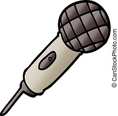 vector gradient illustration cartoon microphone