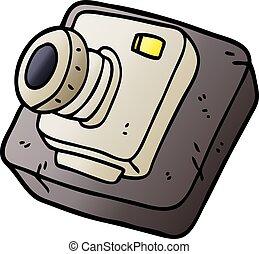 vector gradient illustration cartoon old camera