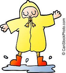 vector gradient illustration cartoon person splashing in...