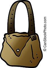 vector gradient illustration cartoon satchel