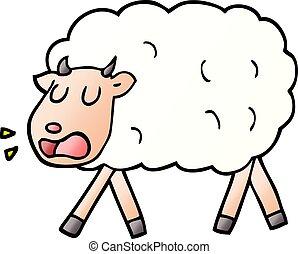 vector gradient illustration cartoon sheep