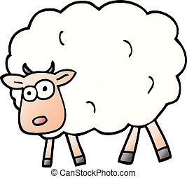 vector gradient illustration cartoon sheep