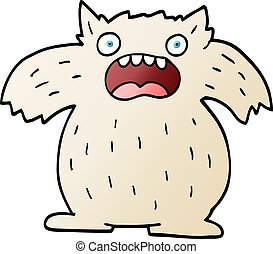 vector gradient illustration cartoon yeti monster