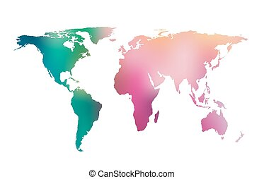 Vector gradient world map