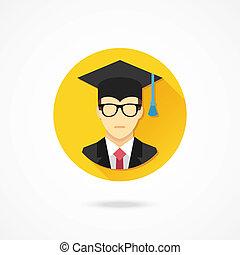 Vector Graduation Man Icon