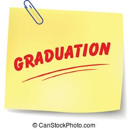 Vector graduation message