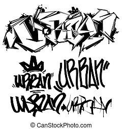 Vector Graffiti Tags - writing