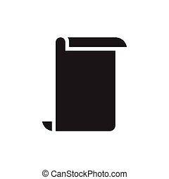 vector, grafisch, papier, ontwerp, mal, pictogram