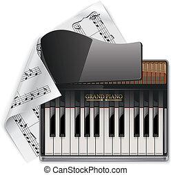 Vector grand piano XXL icon