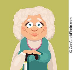 Vector grandmother flat illustration